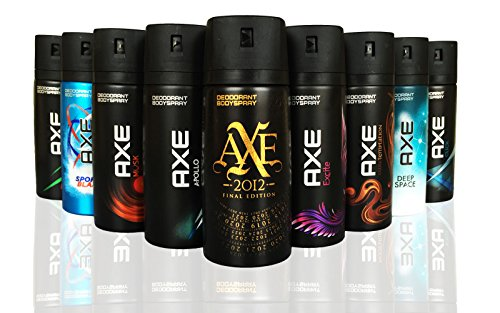 AXE Body Spray MIX within available kind ( Pack of 6)(6X 150 ml/5.07 oz ) - Intense Deodorant Spray