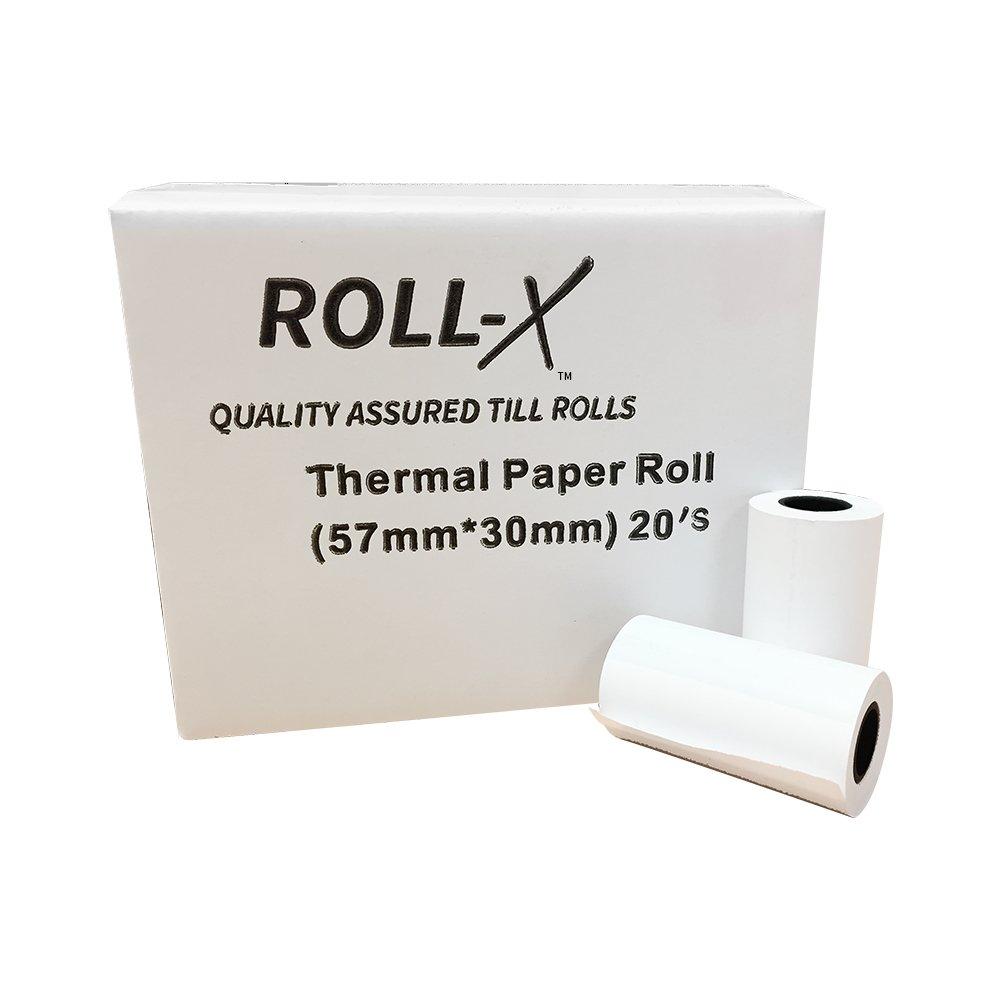100 x Thermal Till Rolls Credit Card PDQ paper 57x40mm