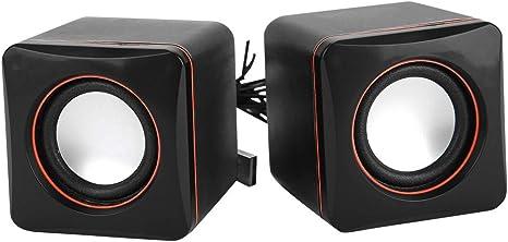 Par de parlantes para PC, 5V 6W USB sin pérdida HiFi Altavoces para computadora Bajo Ruido Intenso con cancelación de Sonido: Amazon.es: Electrónica