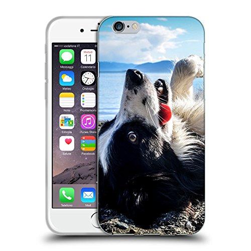 """Just Phone Cases Coque de Protection TPU Silicone Case pour // V00004323 heureux chien paie sur la plage // Apple iPhone 6 4.7"""""""