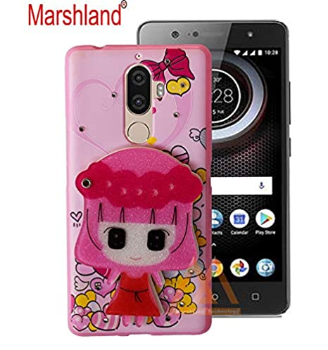 separation shoes a073e 78230 Fancy Creative Back Cover for Lenovo K8 Note 3D Cartoon Hello Kitty Back  Cover for Girls with Makeup Mirror Diamond Stones Soft Silicon Printed  Rubber ...