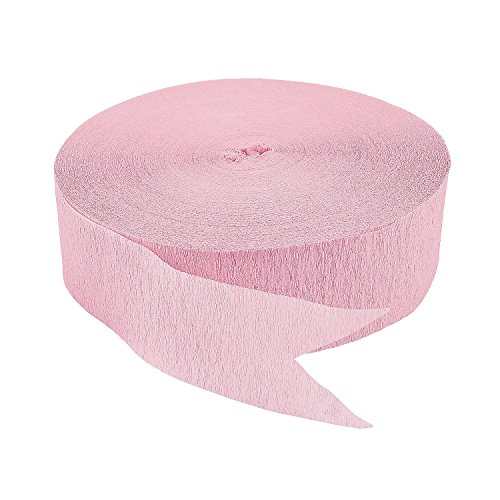 Pink Jumbo Streamers - 4th of July & Float Decorations. 500 Ft. Paper