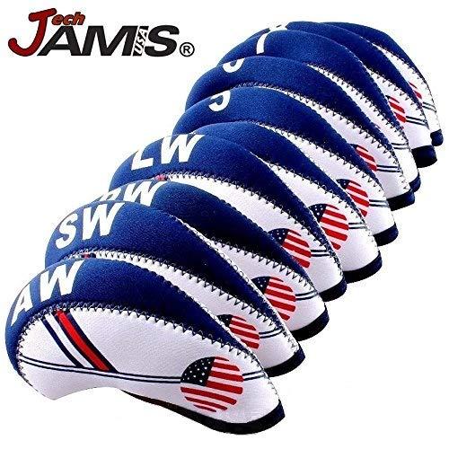 (JamisDIRECT Golf USA Flag Neoprene Golf Club Head Cover Wedge Iron Protective Headcover Set USA Official FLAG Logo. FAST SHIP!)