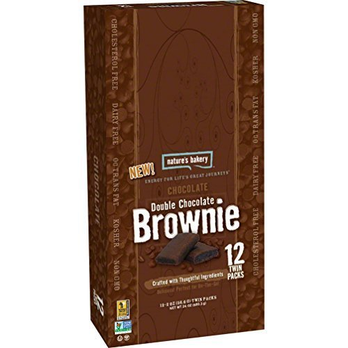 Nature's Bakery Whole Wheat Brownie: Chocolate Double Chocolate, Box of 12