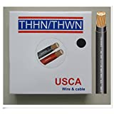 USCA Stranded THHN/THWN 10 AWG Building Wire, 100 FT, Black,600Volt,90C