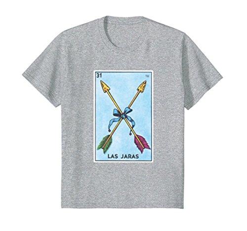 Price comparison product image Kids Las Jaras Card Loteria Shirt Arrows Mexican Bingo Tarot 10 Heather Grey
