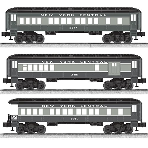 Lionel New York Central Baby Madison Combo/Coach/Observation Passenger Car (3 Pack)