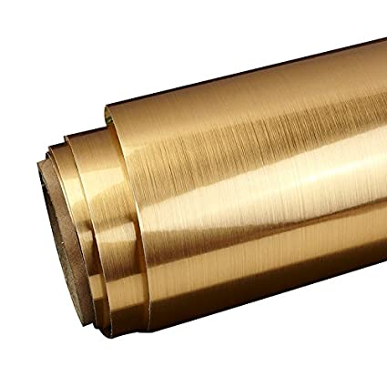 Amazon.com: LS Glossy Gold Brass Metallic Brushed Contact Paper ...