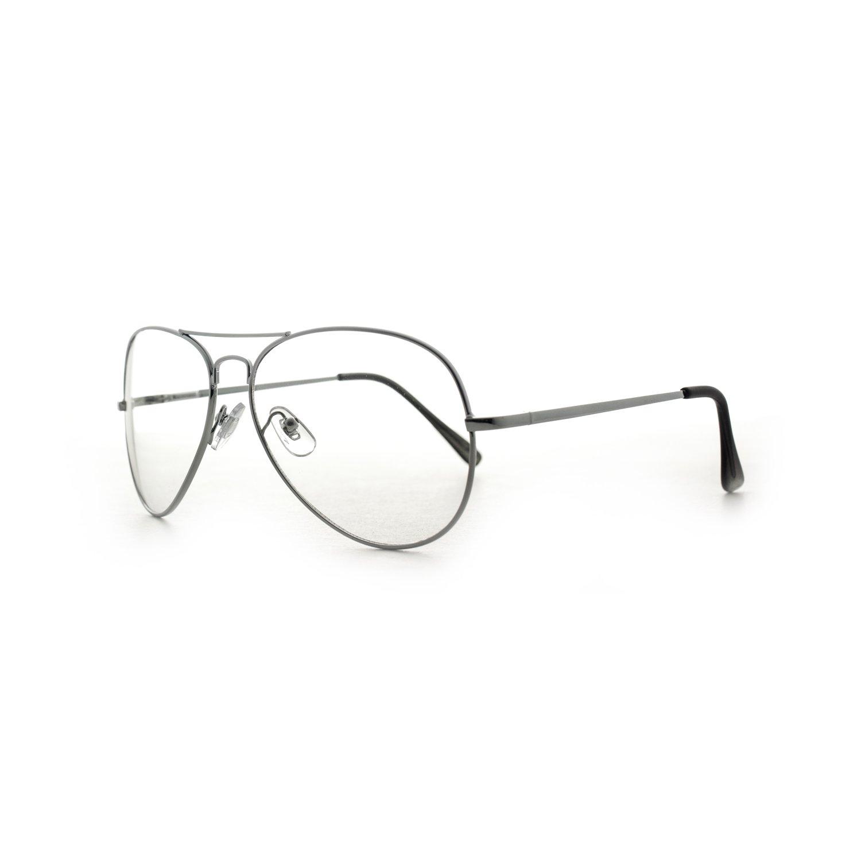 MLC Eyewear Metal Frame Aviator Clear Lens Glasses Fashion Eyewear UV400