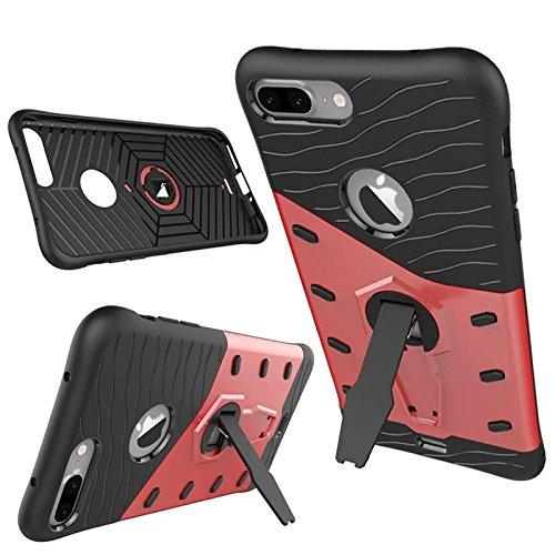 iPhone 7 / iPhone 8 Funda, adorehouse Hybrid TPU y PC Bumper Back Cover [diseño 2 en 1] Anti-Gota Anti-Choques Rígido Carcasas para iPhone 7 / iPhone 8 (Azul)