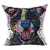 Cute Dog Printed Cushion Case,FimKaul Clearance 18''x18'' Square Gift Soft Sofa Bed Car Throw Home Decor Pillow Covers (T)