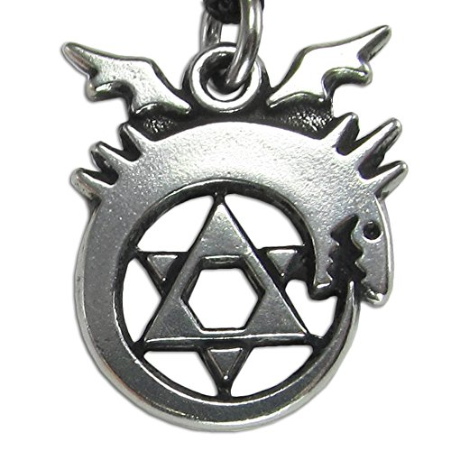 top Pewter Ouroboros Alchemy Symbol Necklace save more