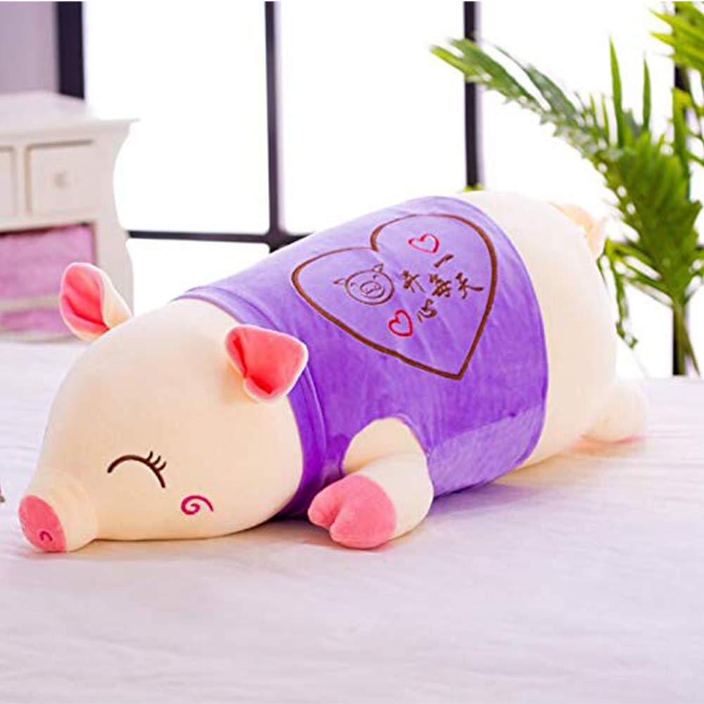 Purple 35cm X&MM Super Cute Plush Toy Girl Sleeping Pillow Cute Pig Plush Doll Pig Plush Girl Birthday Gift,bluee,100cm