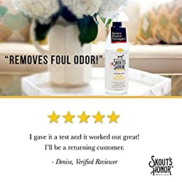 Skout\'s Honor Professional Strength, All-Natural Dog Urine Destroyer - Non-Toxic, Biodegradable, and Eco-Friendly - Odor Eliminating Technology Destroys Odor Molecules On Contact - 32-OZ Spray Bottle