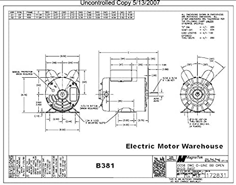 Century electric motors wiring diagram for Magnetek motors cross reference