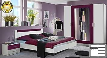 Schlafzimmer 846965 komplett 4-teilig mit Kleiderschrank weiß ...