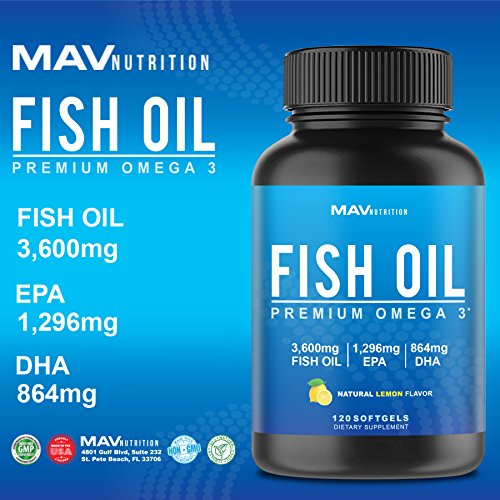 Premium fish oil omega 3 max potency weight loss 3 for Epa dha fish oil