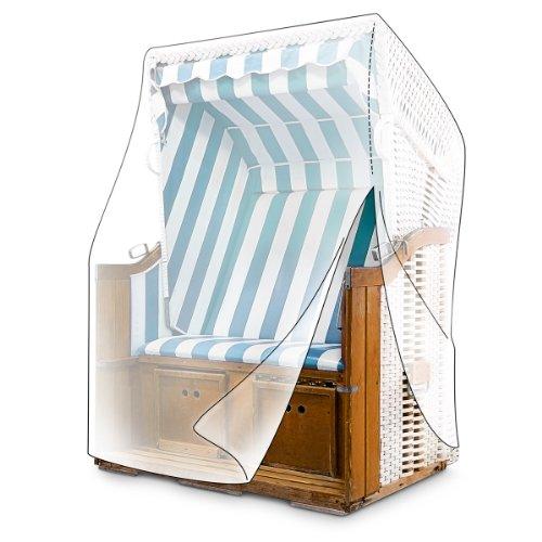 Relaxdays 10013599 Schutzhülle Strandkorb mit Reißverschluss und Ösen reißfest 165 cm