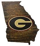 Fan Creations NCAA Georgia Bulldogs 19' x 23' State Cutout with Logo Wood Sign