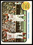Baseball MLB 1973 Topps #208 World Series Game 6 Reds' Slugging Ties Series. EX Excellent Reds