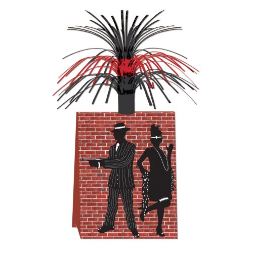 Beistle 57753 1-Pack Gangster Centerpiece, 14-Inch]()
