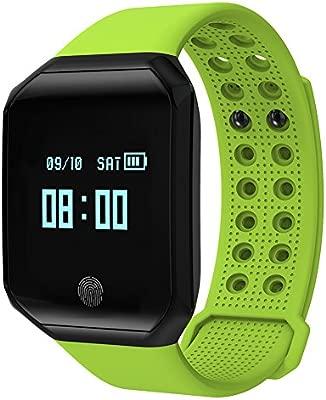 Kivors Reloj Inteligente L1 Bluetooth Smartwatch 1.3 Pulgadas Redondo (Verde)