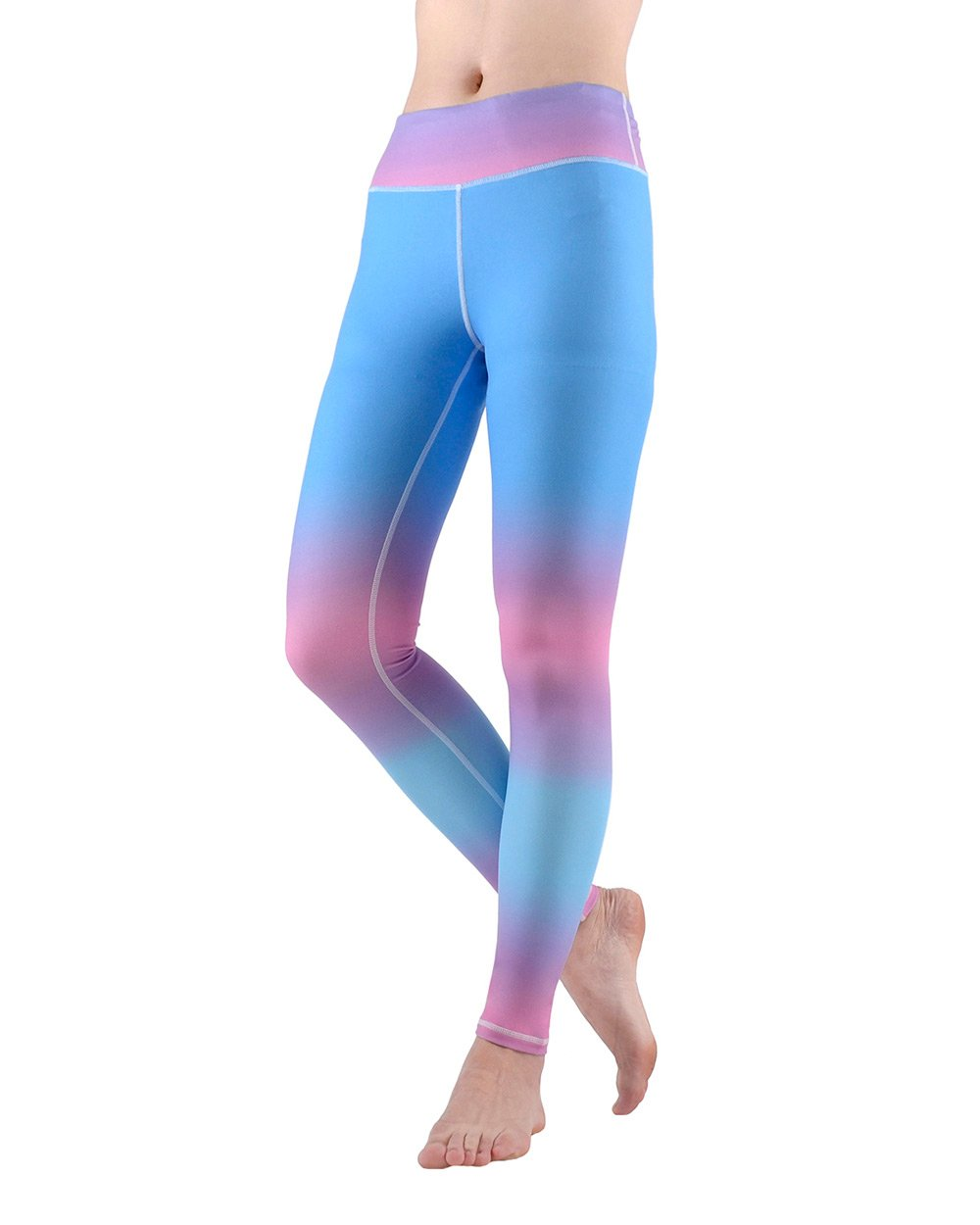 SOUTEAM Womens High Waist Athletic Leggings Workout Sports Yoga Running Pants Capri with Pocket