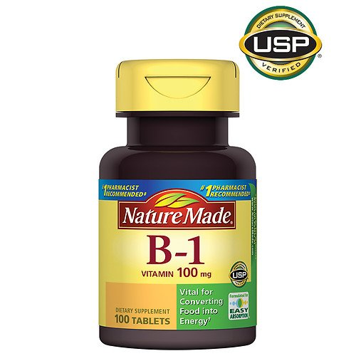 Nature Made B1 100 Mg 100 Count (5 Pack) by Nature Made