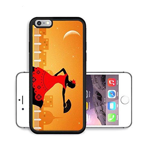 [Liili Premium Apple iPhone 6 Plus iPhone 6S Plus Aluminum Backplate Bumper Snap Case Image ID 21730599 Illustration of flamenco] (Female Flamenco Dancer Costumes)