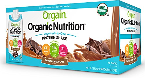 Orgain Plant Based Organic Nutrition Shake, 2 Flavors, 11 Ounce, 12 Count