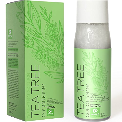 (Natural Tea Tree Oil hair Conditioner for Scalp Dandruff and Dry Hair - Pure Essential Oils and Daily Sulfate Free for Sensitive and Color Treated Hair - Keratin Hair Care for Women and Men - 10 oz)