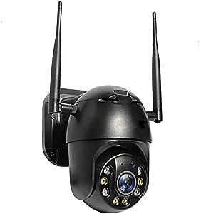 SOOKi Wireless Outdoor Security Camera, WiFi Camera 1080P Surveillance Camera for Home Security Camera Motion Dection 2 Way Audio