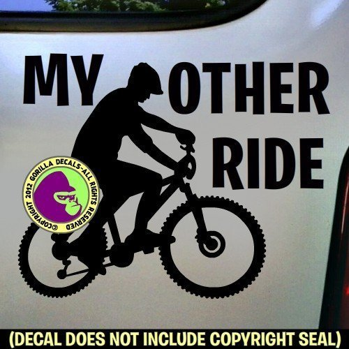 MY OTHER RIDE MOUNTAIN BIKE Vinyl Decal Sticker A