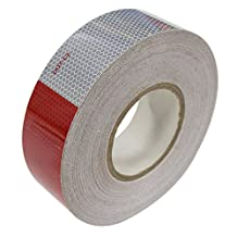 "DOT-C2 Safety Tape Reflective Tape Auto Car Red And White Adhesive (2"" x150')"