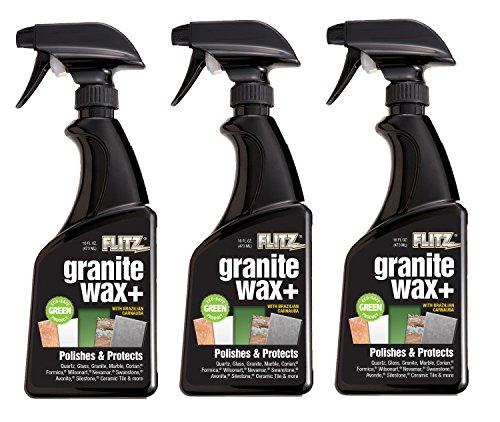 Flitz GRX 22806-3A-3PK Granite Waxx Plus, 16 oz. Spray Bottle, 3-Pack by Flitz