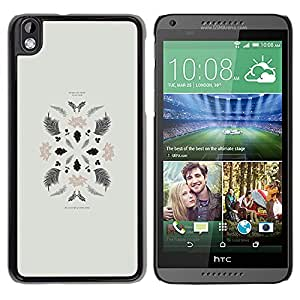Exotic-Star ( Leaves Art Minimalistic Composition ) Fundas Cover Cubre Hard Case Cover para HTC DESIRE 816