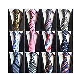 Weishang Lot 12 PCS Classic Men's 100% Silk Tie Necktie Woven JACQUARD Neck Ties (Style 4)