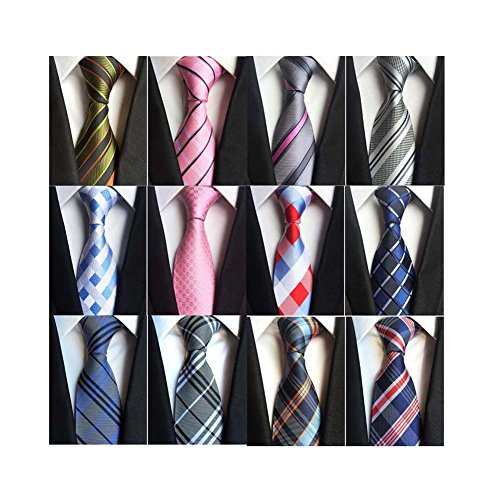 Weishang Lot 12 PCS Classic Men's 100% Silk Tie Necktie Woven JACQUARD Neck Ties (Style 4)