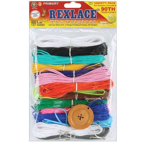 Bead Kits Pony (Pepperell Rexlace Cord 450 FT 2 Rings 6 lanyard Snaps EZ Gimper Beading line Kit)
