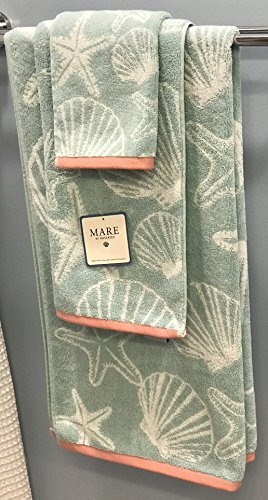 KASSATEX-Mare-Sea-Stars-and-Sea-Shells-Six-6-Piece-Bath-Hand-and-Face-Towel-Bathroom-Set