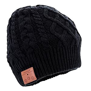 tenergy wireless bluetooth beanie hat with. Black Bedroom Furniture Sets. Home Design Ideas