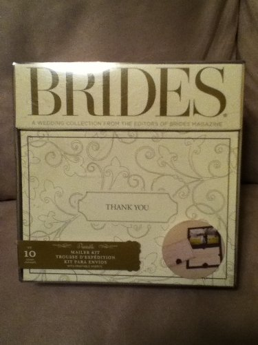 Brides - Ivory & Chocolate Thank You Mailer