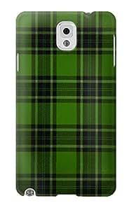 E2373 Tartan Green Pattern Funda Carcasa Case para Samsung Galaxy Note 3