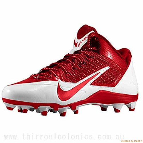 Nike Mens Alpha Pro 3/4 TD Football Cleats White/Red 579636-160 Size 14