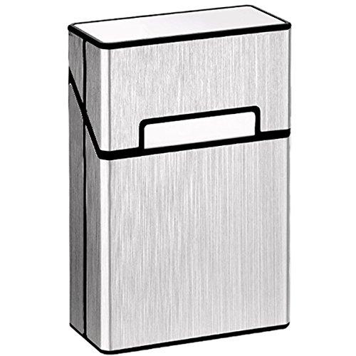 Cigarette Pack Case (LORWING Cigarette Case King Size Aluminium for Whole Package Cigarettes 20pcs Anti-collision Splash Proof and Scratch Resistant ( Silver ))