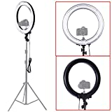 "Neewer Camera Photo/Video 18""Outer 14""Inner 600W 5500K Dimmable Ring Fluorescent Flash Light"