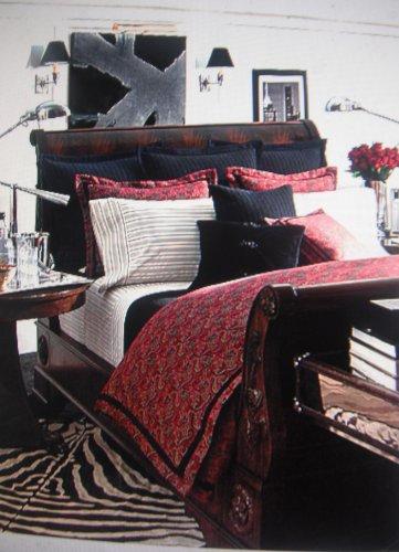 Lauren By Ralph Lauren Bleecker Street Red Jacquard European Pillow Sham