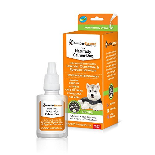 ThunderEssence Dog Calming Essential Oils | All-Natural Lavender, Chamomile and Egyptian Geranium | Vet Recommended | 0.5 FL OZ Drop
