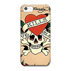Scratch Protection Cell-phone Hard Covers For Iphone 5c (cPX6384KDOY) Support Personal Customs High Resolution Ed Hardy Image