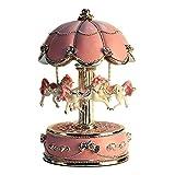 LIWUYOU Christmas Carousel Horse Music Box Luxury Large Size Color Change LED Light